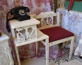 SOLD Retro Telephone Table Gossip Bench
