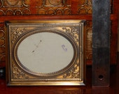 Vintage Single Embossed Metal Matting and Frame