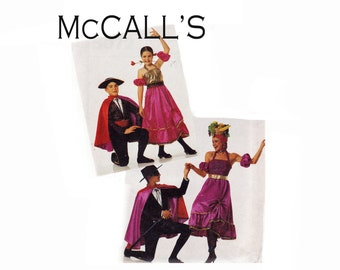 Kids Costume Sewing Pattern UNCUT Sizes 8 10 Spanish dancer Bullfighter Carmen & Masked Marauder McCalls 5072 Boys Girls breast 27-28 1/2