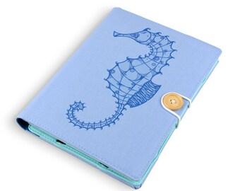 Seahorse / iPad mini case, Kindle case, iPad mini cover, kindle cover, Kindle paperwhite case, voyage, Kobo arc, 1, 2, 3 case cover handmade