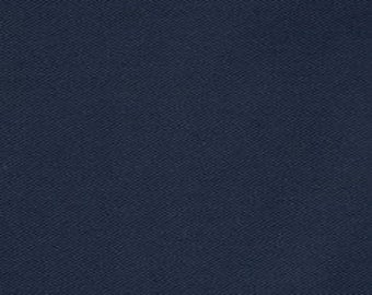 Navy Blue Micro Twill Fabric by the Yard - 100% Polyester