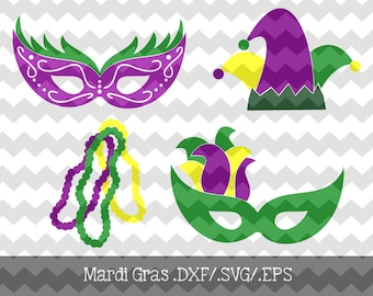 Mardi Gras .DXF/.SVG/.EPS File for use with your Silhouette Studio Software