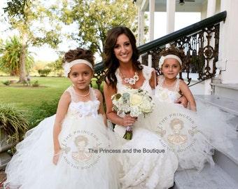 ivory flower girl dress, flower girl dress, flower girl dresses, white flower girl dress, child dress, baby dress, birthday dress, baptism