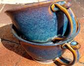 Blue chowder mug latte mug