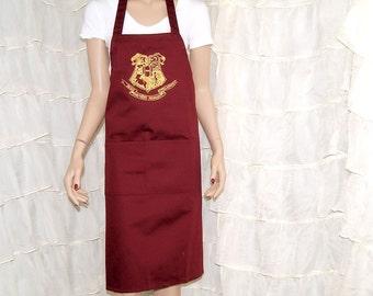 Harry Potter Hogwarts Crest Printed Gryffindor Chef Apron MTCoffinz