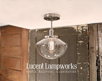 Lighting with Clear Simple Taper Globe Style Shade