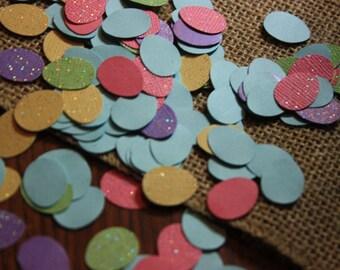 150 Easter Eggs Glitter/Plain Cardstock Confetti