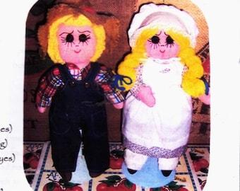 rag bag doll kit- Calico Rag Folk Doll-
