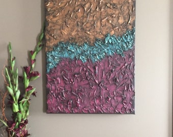 """Already Made Payment Plan Available Original Modern Abstract Textured Painting 34x23x1.5"""""""