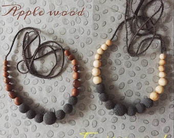 Charcoal Nursing Necklace / Teething Necklaces for Mom to wear - Breastfeeding & Babywearing Jewellery - KangarooCare