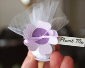 Mini Purple Wedding Favours | Mini Seed Bomb Wedding Favors | Personalized Wedding Favours | Plantable seed Favours | Party Favours