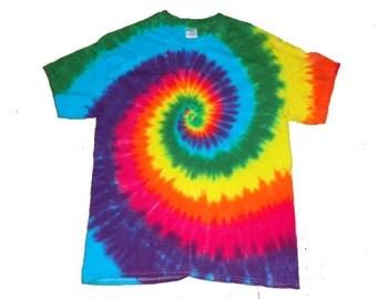 Tie Dye Rainbow Spiral