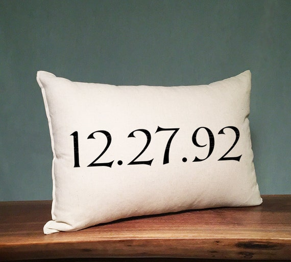 Personalized Pillows For Wedding Gift: Personalized Wedding Date Pillow Wedding Wedding Gift By