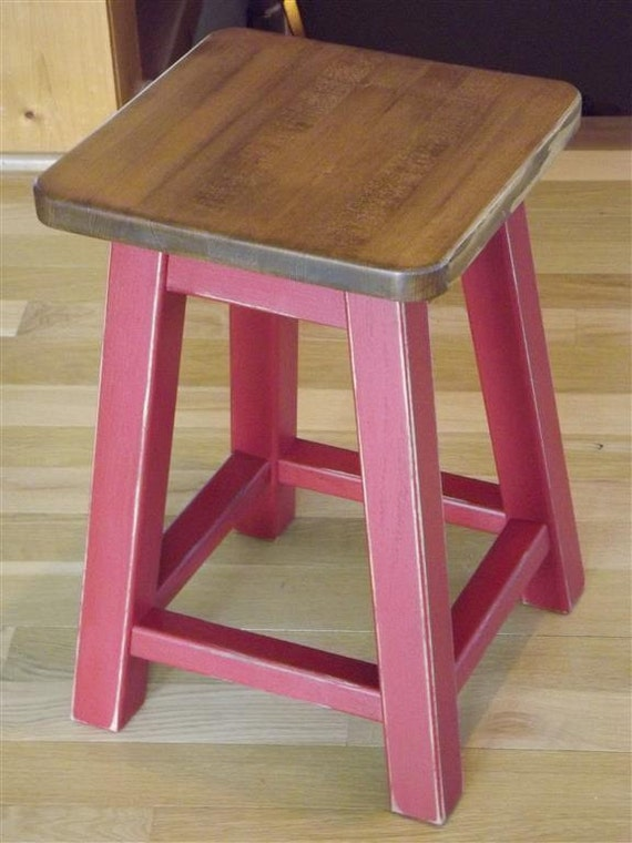 Reclaimed Wood Bar Stool Counter Stool Distressed