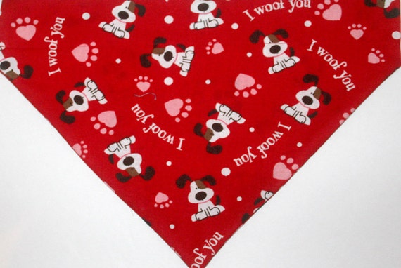 Simple Valentines Day Dog Scarves