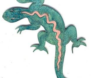 "CopperCutts Lizard 3.5"" x 8"" Wall Plaque"