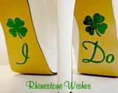 I Do Shoe Glitter Stickers With Lucky Shamrock Wedding Photo Op Bridal DIY Sparkly I Do Shoe Decal