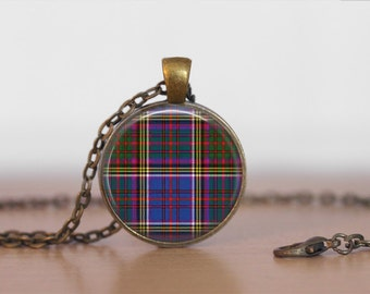 ANDERSON TARTAN PENDANT Necklace / Scottish Tartan Jewelry / Ancestral Jewellery / Anderson Clan /Family Jewelry / Personalized Gift for Her