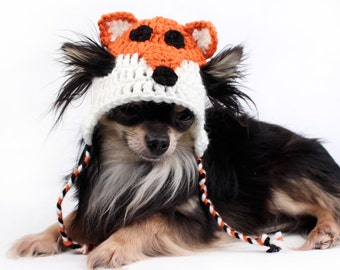 Dog Hat crochet Fox Hat motif cute hats for pets