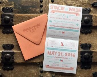 Custom Love Story Wedding Invitation - Design Fee