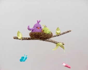 baby mobile, bird mobile, butterfly mobile, crib mobiles, bird nursery mobiles, crib mobile, baby mobile hanging, woodland animal mobile,