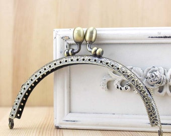 12.5cm(4.92inch) antique bronze sewing bag metal purse frame A035
