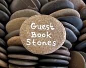 100 Wish Stones Guest Book Rocks Wedding Stones Flat Stones Table Decor Memorial Stones Message Craft Stones - 1.5 inch