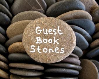 80 Flat Rocks Wedding Stones Guest Book Stones Flat Stones Wish Stones Message Stones Memorial Rocks Diy Craft Stones to Paint - 1.5 inch