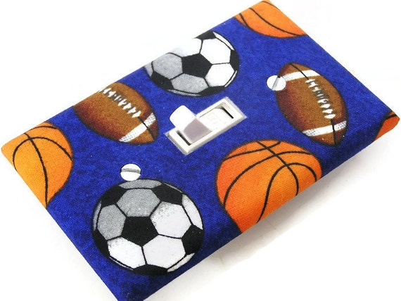Sports Balls Light Switch Cover Plate Switchplate By Smijims