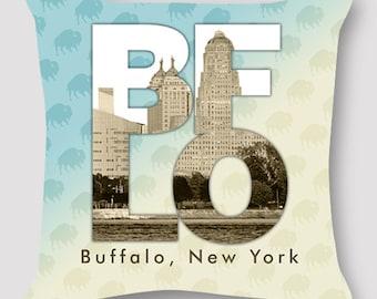 Pillow Photography Buffalo New York Pillow BFLO Hand Sewn Zipper Beautiful