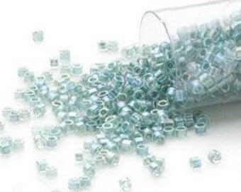 Miyuki, Delica Seed Beads 11/0   7 gram tube - Color-Lined Rainbow Sea Blue