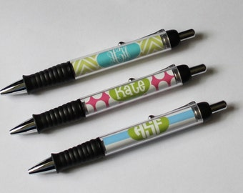 Personalized Pen - Monogrammed Pen - Office Gift - Teacher Gift - Coworker Gift - Personalized Teacher Gift - Personalized Gift - Monogram