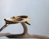 gold double wrap leather bracelet for women - Maria Helena Design