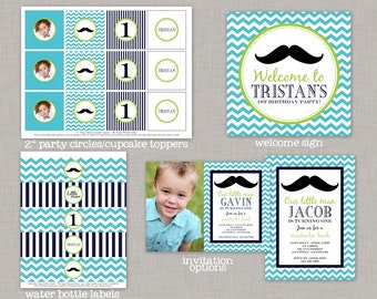 Little Man Birthday, Little Man Decorations, Mustache Birthday, Mustache Party, Printable