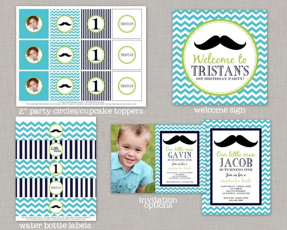 Little Man Birthday Party Decorations Mustache Bash