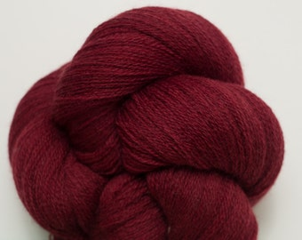 Bing Cherry Recycled Extra Fine Grade Lace Weight Merino Yarn, 3404 Yards Available