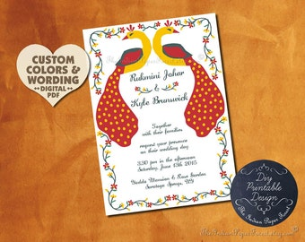 PRINTABLE Indian Wedding Ceremony Program Fan Pdf Hindu Saat