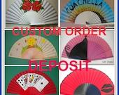 CUSTOM ORDER DEPOSIT For a Hand Fan by Kate Dengra
