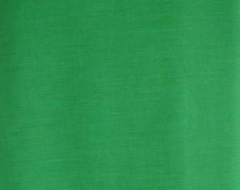 Vienna Green Solid Poly/Cotton Blend Fabric, by Village Square Cottons, 65 percent poly/35 percent combed cotton, 1 yard cut