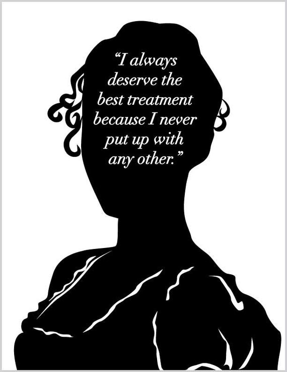 Jane Austen Emma Print - Best Treatment - Jane Austen Quote - Literary Art - Teachers Gift - Bookish - Literature - Book Lovers - Quote