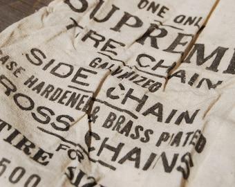 Vintage Cloth Bag, Supreme Tire Chain