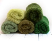 Shades of green ethereal loosely handknit newborn mohair wrap layer photography prop - choose a color