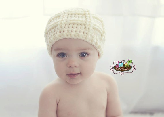 Crochet Pattern for Unisex Criss Cross Cable Beanie Hat - 6 sizes, baby to large adult - Welcome to sell finished items