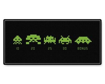 Space Invaders - Cross Stitch PDF Pattern