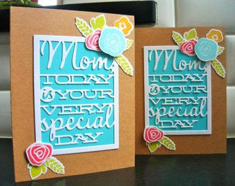 Handmade Birthday Card for Mother, Mothers Day Greeting Card, Mom Birthday Card
