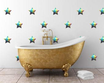 Medium Star Pattern | Vinyl Wall Sticker,  Decal Art | Set of 12,  5 inches wide