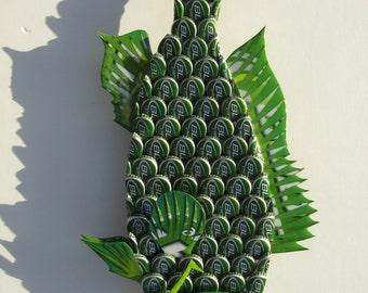 Bud Light Lime Bottlecap Fish Metal Grouper Fish Wall Art