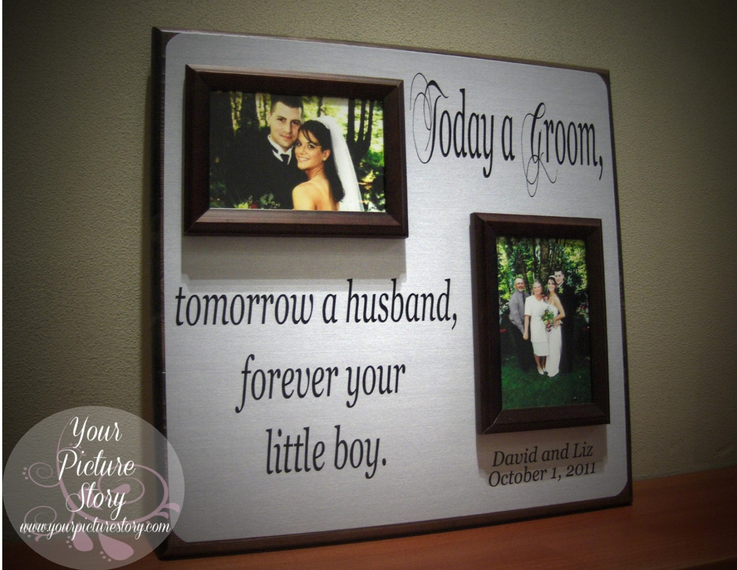 Wedding Gifts For Parents Of The Groom : Parents of the Groom Gift Mother of the Groom by YourPictureStory
