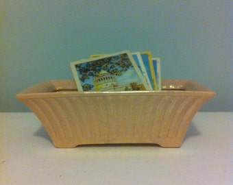 Pink usa pottery planter