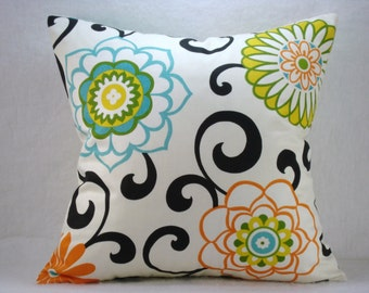 Waverly Pom Pom Confetti Modern Decorative Accent Pillow 18x18
